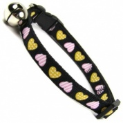 Primitive Heart Cat Collar | Black